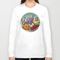 halo Long Sleeve T-shirts featuring Halo Haloctopus by Shelly Soneja