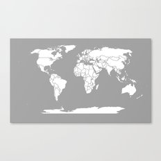 A Political Map of the World Canvas Print