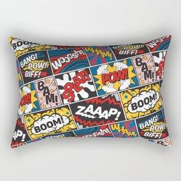 Modern Comic Book Superhero Pattern Color Colour Cartoon Lichtenstein Pop Art Rectangular Pillow