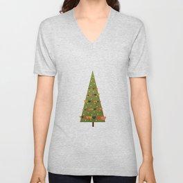 Christmas Tree - Mid Century Modern Unisex V-Neck