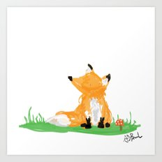 Fox Life Art Print