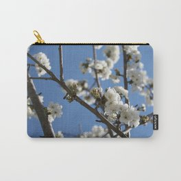 Cherry Blossom Branches Against Blue Sky Carry-All Pouch