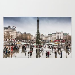 Trafalgar Square, London, at Christmas Rug