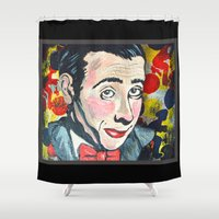 pee wee Shower Curtains featuring Pee Wee by Portraits on the Periphery