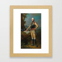 Johann Heinrich Tischbein the Elder (Haina 1722–1789 Kassel) Portrait of Louis Gaucher, Duc de Chati Framed Art Print