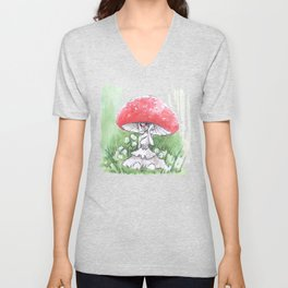 Empire of Mushrooms: Amanita Muscaria Unisex V-Neck