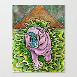Murphy the Hippo Canvas Print