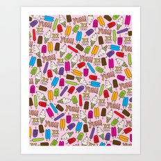 Ice Cream Doodles Art Print