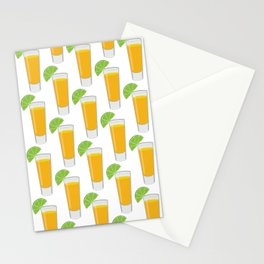 Tequila Shot Pattern Stationery Cards