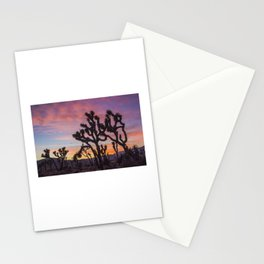 Colorful Sunset in Joshua Tree National Park Stationery Cards