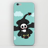 how to train your dragon iPhone & iPod Skins featuring How Panda Train Your Dragon by Pandakuma Store