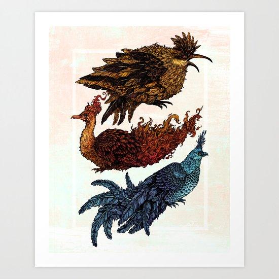 Legendary Birds Art Print