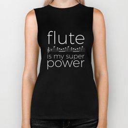 Flute is my super power (kv299) - black Biker Tank