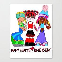 Beat Girlz Canvas Print