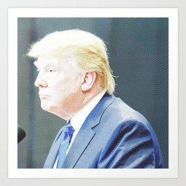 President Donald Trump - Engraved 2 Art Print