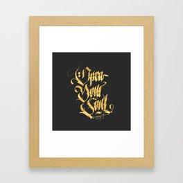 Open your soul Framed Art Print