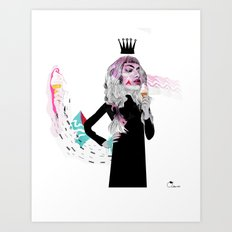 Ice Cream Queen Art Print