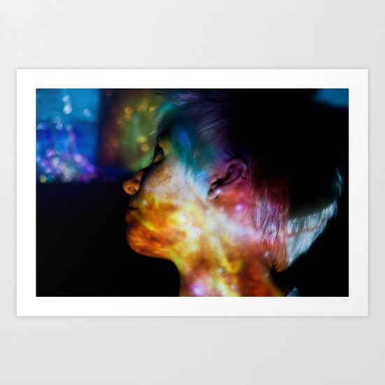 Don't Look Back: Projection Series #9 Art Print