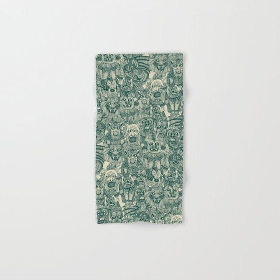 gargoyles teal Hand & Bath Towel