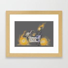 Pin-Up Ghost Rider Framed Art Print