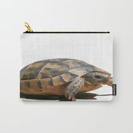 Portrait of a Young Wild Tortoise Isolated Carry-All Pouch