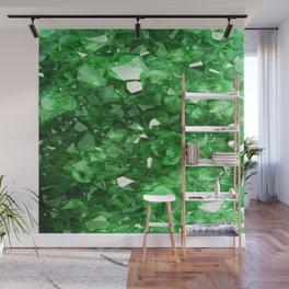EMERALD GREEN CRYSTALS  MAY BIRTHSTONE Wall Mural