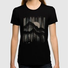 A Wolf in the Night... LARGE Womens Fitted Tee Black