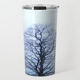 Bare Tree in a Blue Fog Travel Mug