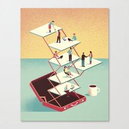 Work in a briefcase Canvas Print