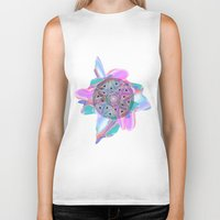 holographic Biker Tanks featuring Colour Me by Belinda O'Connell