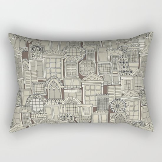 windows umber Rectangular Pillow