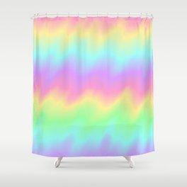 Rainbow Ripples Shower Curtain