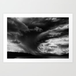 Storm brewing over the The Cuillin mountains , Isle of Skye Art Print