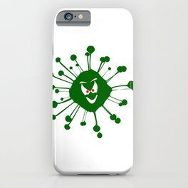 Evil Face Viral Infection Silhouette iPhone Case