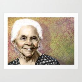 Mi abuela Art Print