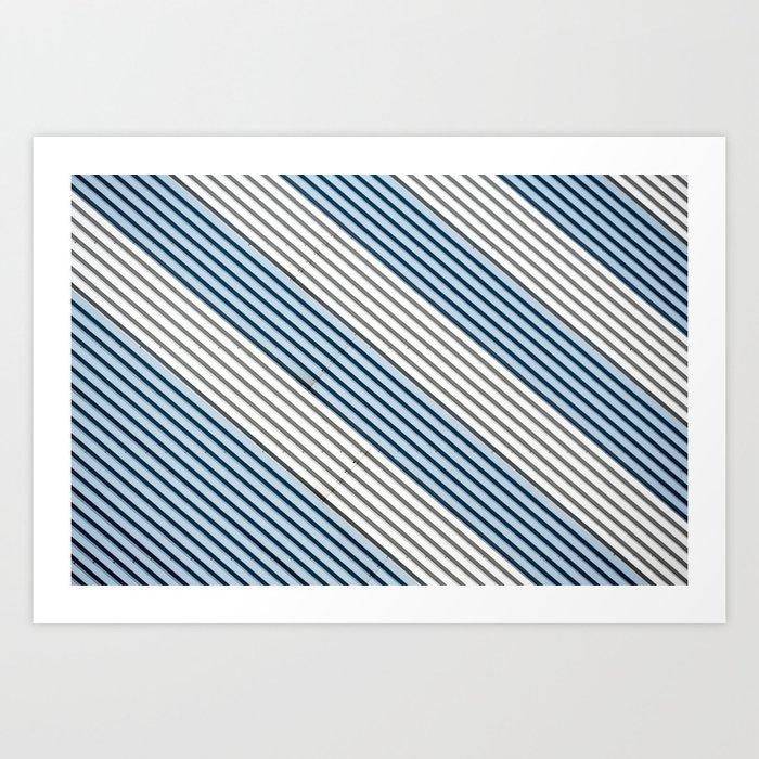 White and blue Lines Kunstdrucke