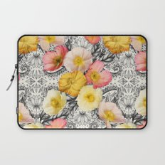 Collage of Poppies and Pattern Laptop Sleeve