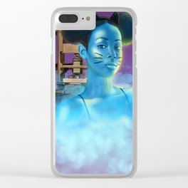 Ghost Girl Clear iPhone Case