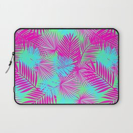 Neon Pink & Blue Tropical Print Laptop Sleeve