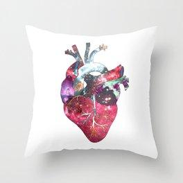 Superstar Heart (on white) Throw Pillow