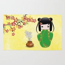 Sakura Kokeshi Doll Rug