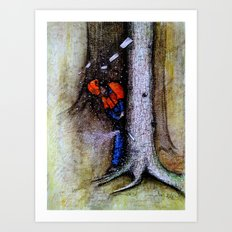 Arborist / Tree Surgeon using stihl chainsaw Art Print