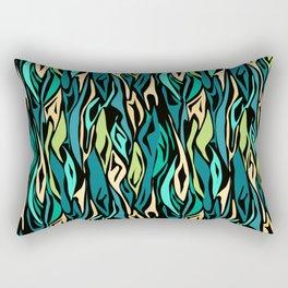23 abstract turquoise black Rectangular Pillow