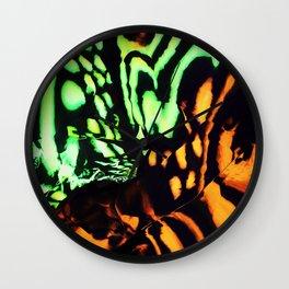 Neon animal skin Wall Clock