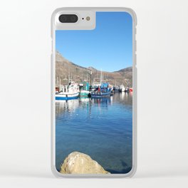 Fishing boats in Hout Bay Clear iPhone Case