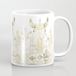 Santa Fe Garden – Gold Ink Coffee Mug