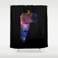 dalek Shower Curtains featuring Space Tardis Dalek by BomDesignz