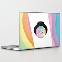 bondage Laptop & iPad Skins featuring Royal Hippie Rainbow Bondage Bear by YOSH FRIDAY