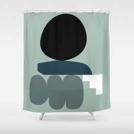 Shape study #19 - Stackable Collection Shower Curtain