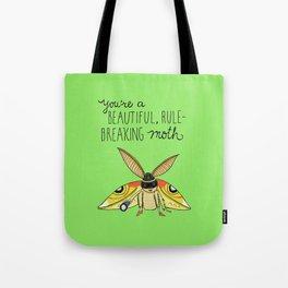 Leslie Knope Compliments: Rule-Breaking Moth Tote Bag